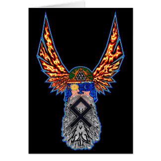 Odin - Othala Greeting Card