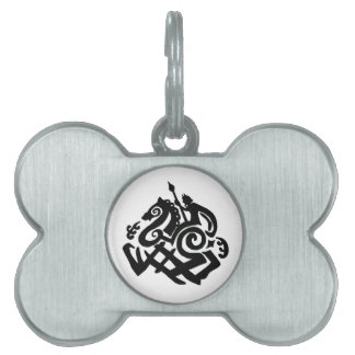 Odin Riding Sleipnir Dog tag Pet ID Tag