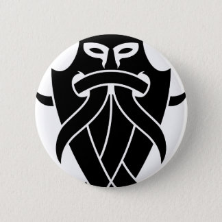 Odin's Mask Tribal (black) 6 Cm Round Badge