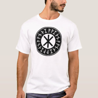 Odin's Protection No.1 (black white) T-Shirt