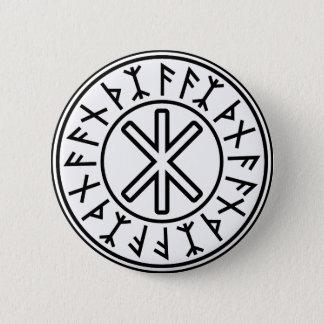 Odin's Protection No.2 (black) 6 Cm Round Badge
