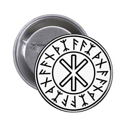 Odin's Protection No.2 (black) Button