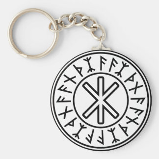 Odin's Protection No.2 (black) Basic Round Button Key Ring