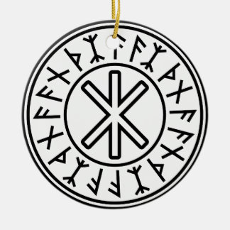 Odin's Protection No.2 (black) Christmas Ornament