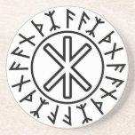 Odin's Protection No.2 (black) Coasters