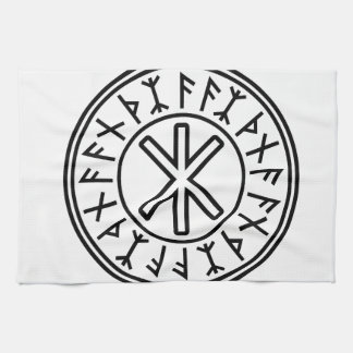 Odin's Protection No.2 (black) Tea Towel
