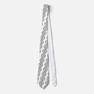 Odin's Protection No.2 (black white) Tie