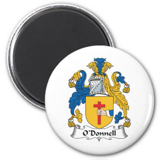 O'Donnell Family Crest 6 Cm Round Magnet