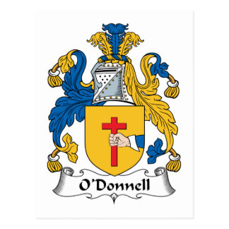 O'Donnell Family Crest Postcard