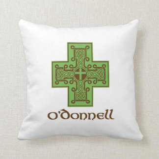 O'Donnell Logo Green and Brown Throw Pillow