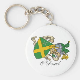 O'Dowd Family Crest Basic Round Button Key Ring