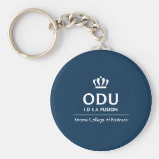 ODU Stacked Logo Basic Round Button Key Ring