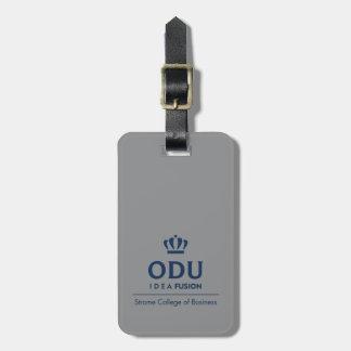ODU Stacked Logo - Blue Bag Tag