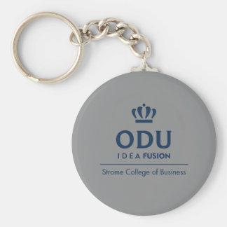 ODU Stacked Logo - Blue Basic Round Button Key Ring