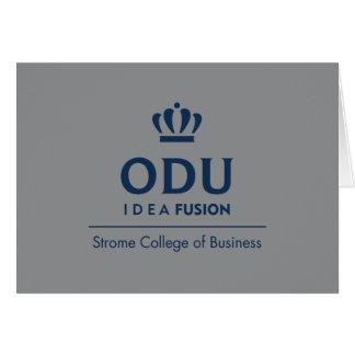 ODU Stacked Logo - Blue Card