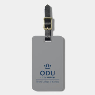 ODU Stacked Logo - Blue Luggage Tag