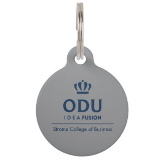 ODU Stacked Logo - Blue Pet Name Tags