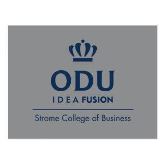 ODU Stacked Logo - Blue Postcard