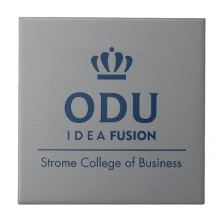 ODU Stacked Logo - Blue Tile