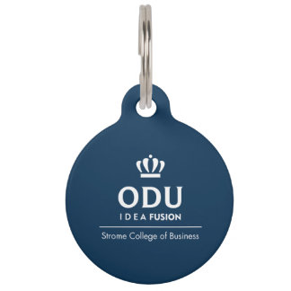 ODU Stacked Logo Pet Name Tag