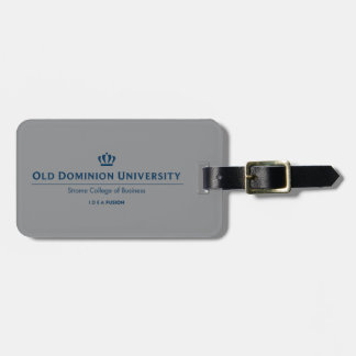ODU Strome College of Business - Blue Luggage Tag