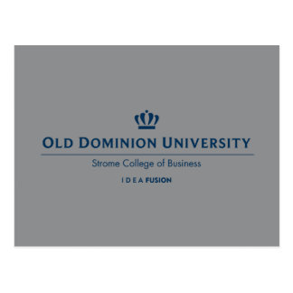 ODU Strome College of Business - Blue Postcard