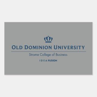 ODU Strome College of Business - Blue Rectangular Sticker