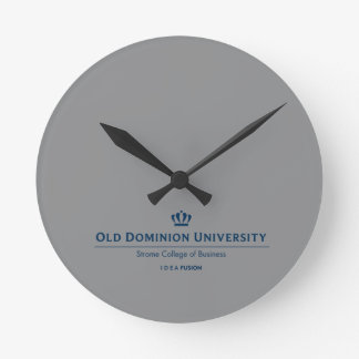 ODU Strome College of Business - Blue Round Clock