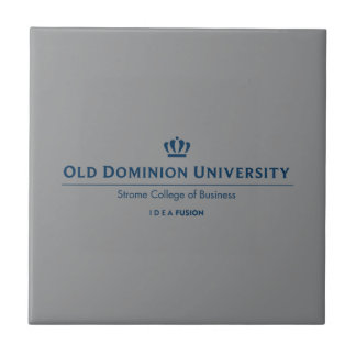 ODU Strome College of Business - Blue Small Square Tile