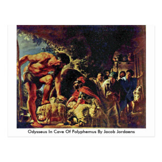 Odysseus In Cave Of Polyphemus By Jacob Jordaens Postcard