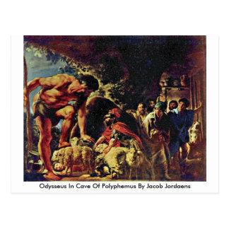 Odysseus In Cave Of Polyphemus By Jacob Jordaens Postcard
