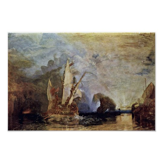 Odysseus Mocked Polyphemus By Turner Joseph Mallor Poster