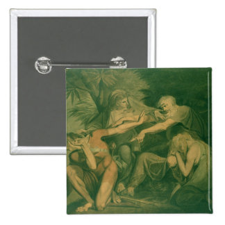 "Oedipus cursing his son Polynices - ""Go to Ruin, S 15 Cm Square Badge"