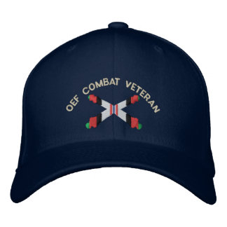 OEF Combat Veteran Artillery Crossed Cannon Hat Embroidered Hat