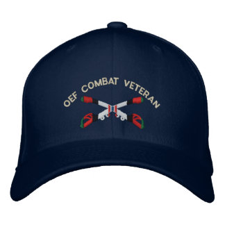 OEF Combat Veteran Cavalry Crossed Sabers Hat Embroidered Cap