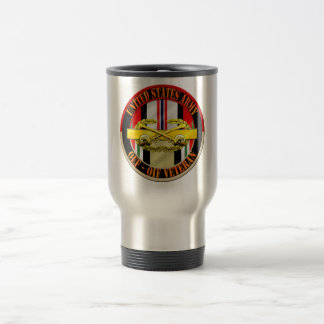 OEF OIF Veteran Cavalry Scout Stainless Steel Travel Mug
