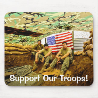 OEF Soldiers, Support Our Troops Mouse Mat