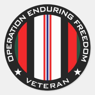 OEF Veteran Round Stickers