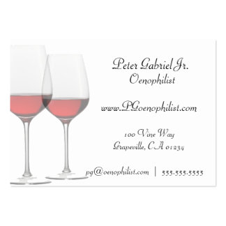 Oenophilist Red Wine Business Cards