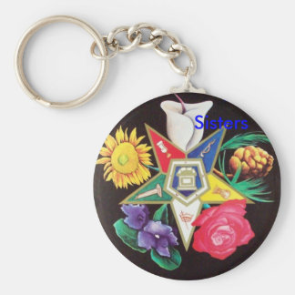 OES Blooming Star Basic Round Button Key Ring