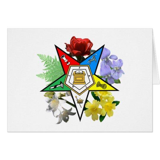 OES Floral Emblem Card