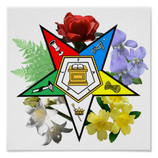 OES floral Emblem Poster