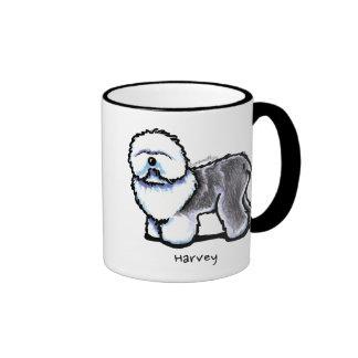 OES Full Figured Personalized Ringer Coffee Mug