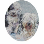 oes old english sheepdog Christmas Ornament Photo Sculpture Decoration