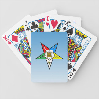 OES Order of the Eastern Star Blue Bicycle Playing Cards