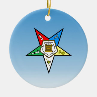 OES Order of the Eastern Star Blue Christmas Ornament