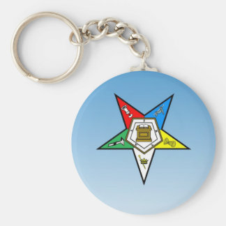 OES Order of the Eastern Star Blue Key Ring