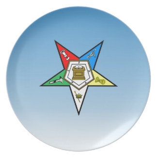 OES Order of the Eastern Star Blue Plate