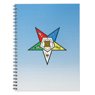 OES Order of the Eastern Star Blue Spiral Notebook