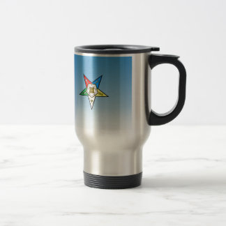 OES Order of the Eastern Star Blue Stainless Steel Travel Mug